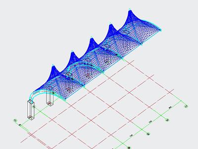 膜结构CAD设计图纸